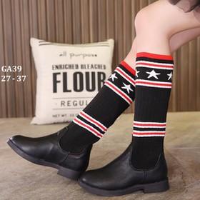 Giày bốt cổ cao bé gái kiểu Âu Mỹ GA39 Màu đen - GA39DEN