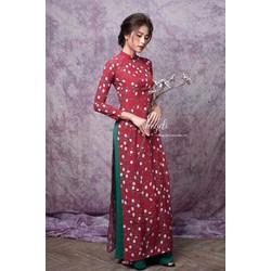 Sét áo dài in hoạ tiết hai màu cực xinh