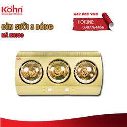 Đèn sưởi nhà tắm Kohn KN03G bảo hành 5 năm