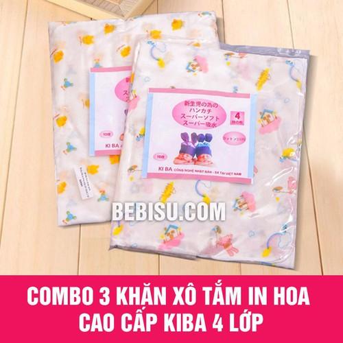 Combo 3 khăn xô tắm bé in hoa cao cấp KiBa 4 lớp - Hàng xuất Nhật - 4950076 , 7497054 , 15_7497054 , 150000 , Combo-3-khan-xo-tam-be-in-hoa-cao-cap-KiBa-4-lop-Hang-xuat-Nhat-15_7497054 , sendo.vn , Combo 3 khăn xô tắm bé in hoa cao cấp KiBa 4 lớp - Hàng xuất Nhật