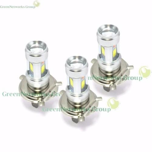 Bộ 3 đèn pha led 3 chân H4 E01C gắn pha xe máy GreenNetworks
