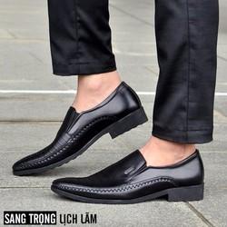 Giày tây da thật kiểu dáng công sở sang trọng, lịch lãm