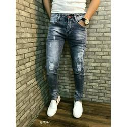 quần jean nam cao cấp rách nhẹ