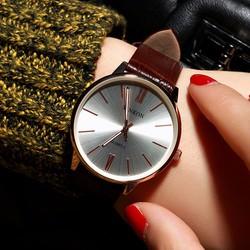 Đồng hồ dây da nữ thời trang giản dị HDDH041