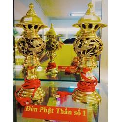 Đèn thờ cúng Phật Thần số 0 - Cao 27cm x Rộng 10cm