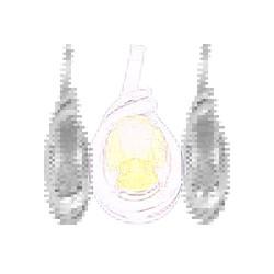 Mặt dây bạc đá CZ - vàng