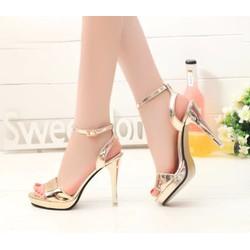 Giày cao gót ánh kim cao cấp