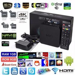 Android Tivi Box MXQ PRO 4K Biến Tivi Thường Thành Tivi Thông Minh
