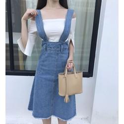 Váy yếm jean 2 đai to