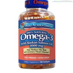 Viên dầu cá hồi Pure Alaska Omega™ Wild Salmon Oil 1,000mg 180 viên