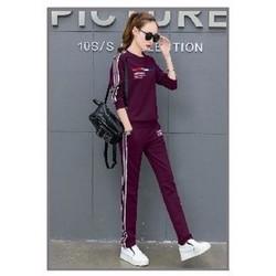 Bộ quần áo thể thao nữ neon tay dài cao cấp
