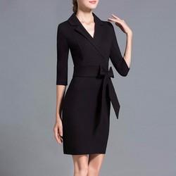Đầm suông cổ vest thời trang cao cấp - DS44