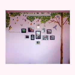 Khung ảnh gỗ thông treo tường cây bóng mát KAT12
