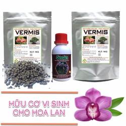 Sản phẩm sinh học chăm sóc hoa lan ra hoa 1 smin 100ml và 2 vermis 1kg