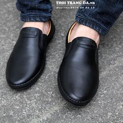 Giày lười da thật mềm, đế cao su mềm
