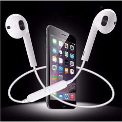 Tai nghe Bluetooth S6 có mic đàm thoại - trắng