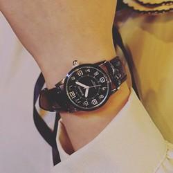 Đồng hồ dây da nữ thời trang phong cách  Hàn Quốc