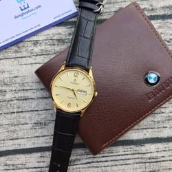 Đồng hồ nam chính hãng Sunrise 2 lịch, kính sapphire, chống nước tốt
