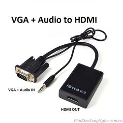 Cáp chuyển đổi VGA- HDMI
