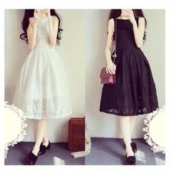 Đầm Maxi Ren Hoa Hot Sale Giá Sốc