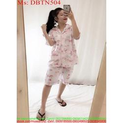 Đồ bộ nữ mặc nhà hình hello kitty hồng xinh đẹp DBTN503