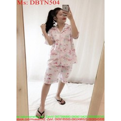 Đồ bộ nữ mặc nhà short hình gấu dễ thương DBTN504