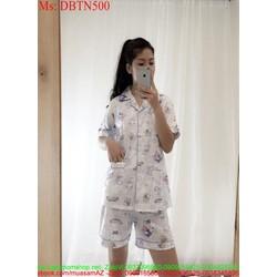 Đồ bộ nữ mặc nhà hình họa tiết hoạt hình kute DBTN500