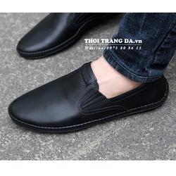 Giày lười da thật thiết kế đơn giản, sang trọng