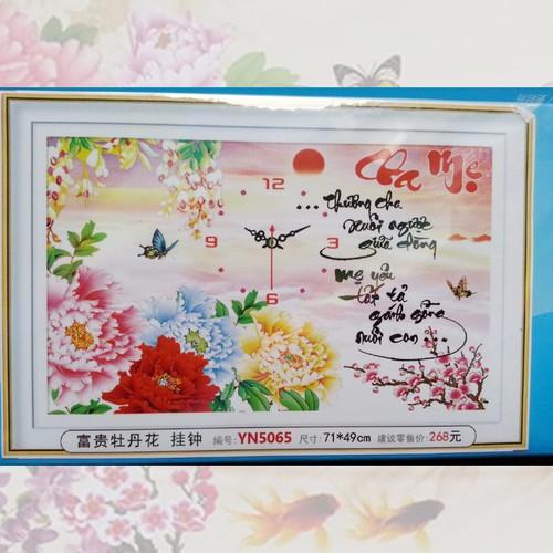 Tranh đính đá đồng hồ cha mẹ - 10477743 , 7507203 , 15_7507203 , 140000 , Tranh-dinh-da-dong-ho-cha-me-15_7507203 , sendo.vn , Tranh đính đá đồng hồ cha mẹ