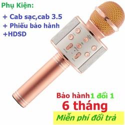Micro kiêm loa hát karaoke bluetooth trên điện thoại,máy tính,laptop