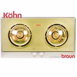 Đèn sưởi nhà tắm Braun Kohn KN02Glà đèn sưởi 2 bóng vàng