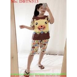 Đồ bộ nữ mặc nhà lửng hình chú gấu đáng yêu DBTN513