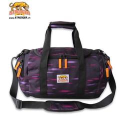 Túi du lịch đen, sọc hồng S14-04 Stronger Bags