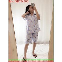 Đồ bộ nữ mặc nhà short hello kitty màu xanh xinh đẹp DBTN505