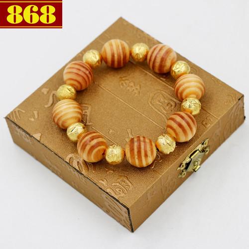 Vòng đeo tay gỗ huyết rồng 18 ly a527 hộp gỗ