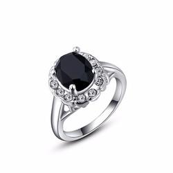 Nhẫn đính đá đen sang trọng hàng cao cấp bền màu