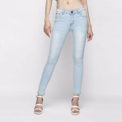 Quần jeans skinny nữ cạp vừa xanh biển phẩn