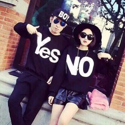 áo thun in chữ YES NO