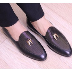 Giày da nam thời trang cao cấp màu đen da dày mềm bền đẹp
