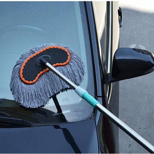 Chổi rửa xe ô tô cán dài 1m sử dụng cho rửa xe chuyên nghiệp và xe gia đình