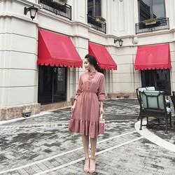 Đầm maxi bo eo
