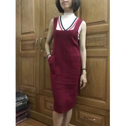 Đầm yếm dệt kim