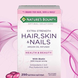 Viên uống đẹp da, tóc, móng Nature Bounty Hair Skin Nails hộp lớn 250v