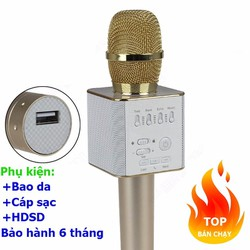 Micro hát karaoke bluetooth Micgeek Q9 trên điện thoại