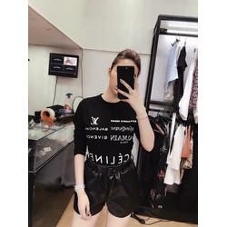 Áo phông dài tay chữ Celine