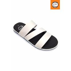 Dép sandal nam màu trắng 3 quai ngang thời trang