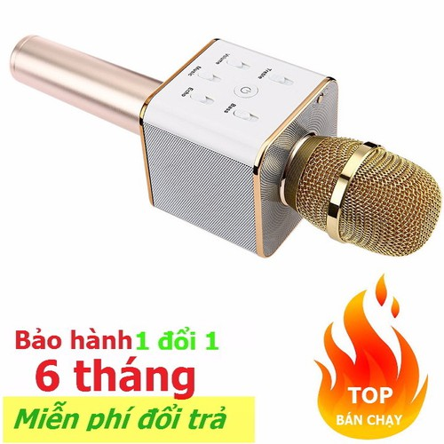 Micro không dây kèm Loa hát Karaoke bluetooth 3 trong 1 cầm tay Q7