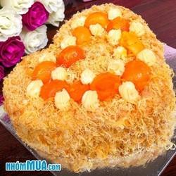 Bánh bông lan trứng muối chà bông phô mai - Giao hàng tận nơi