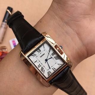 Đồng hồ nữ dây da chính hãng Skmei vuông, thời trang - đồng hồ nữ dây da SKMV02 thumbnail