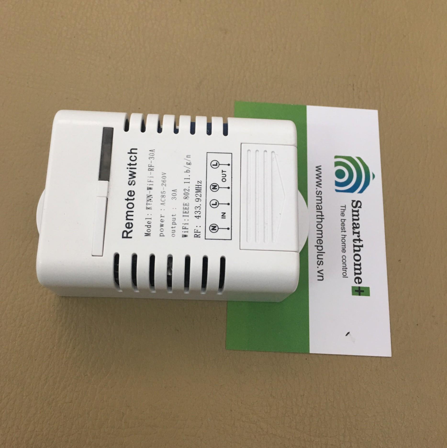 Công Tắc Điều Khiển Từ Xa Wifi Và RF Công Suất Lớn 30A